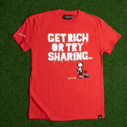 TShirt in Canapa GET RICH OR TRY SHARING